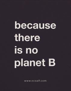 there is not planet b ecoalf