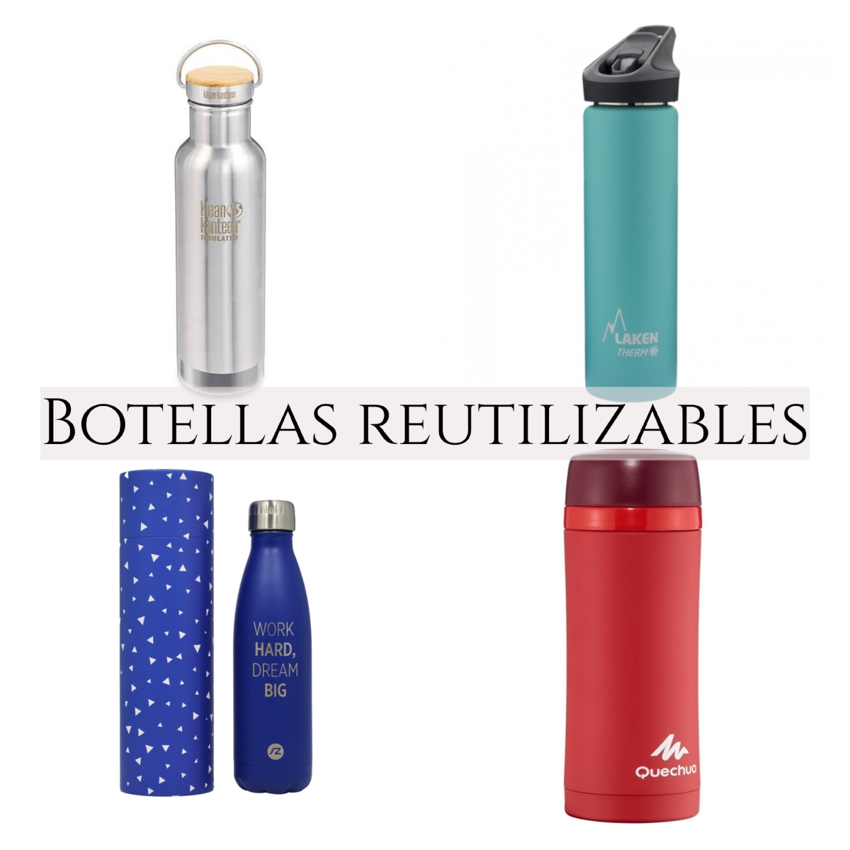 Botellas de agua de acero inoxidable
