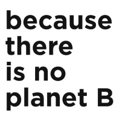 because there is not planet b